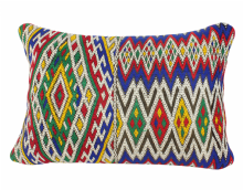 "Moroccan Vintage Kilim Rug Carpet Cushion COVER  Wool 60 cm x 40 cm / 24""x 16'' (VC406)"